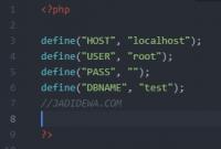 Membuat Koneksi Dengan Define PHP MySQLi - JADIDEWA.COM