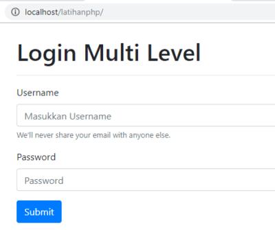 Form Login Membuat Multi Level Login Menggunakan PHP dan MySQLi - Jadidewa.com